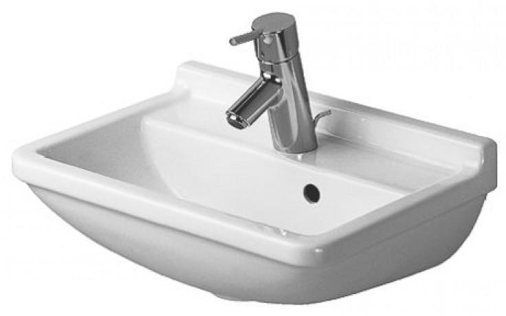 Umývátko klasické Duravit s otvorem Starck 3 s přetokem WG 45x32 cm bílá+wondergliss
