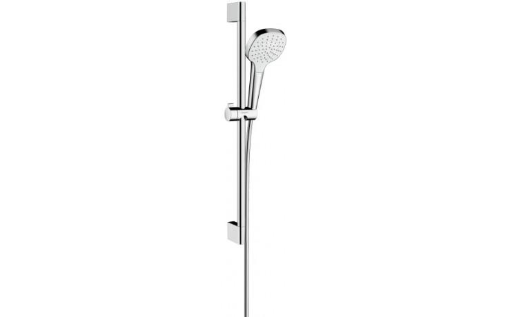 HANSGROHE sada ruční sprcha Croma Select E 1jet, nástěnná tyč Unica'Croma 0,65m, sprchová hadice Isiflex 1,60m bílá/chrom