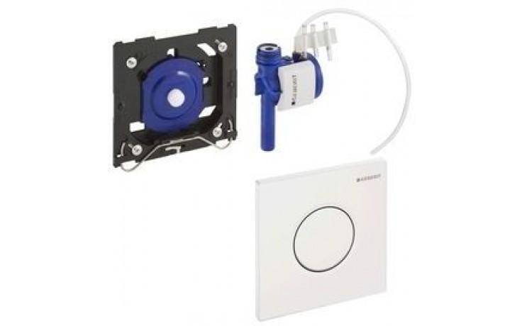 GEBERIT ovládání splachování pisoárů Sigma 01, 13x13cm, pneumatické ruční, alpská bílá 116.011.11.5