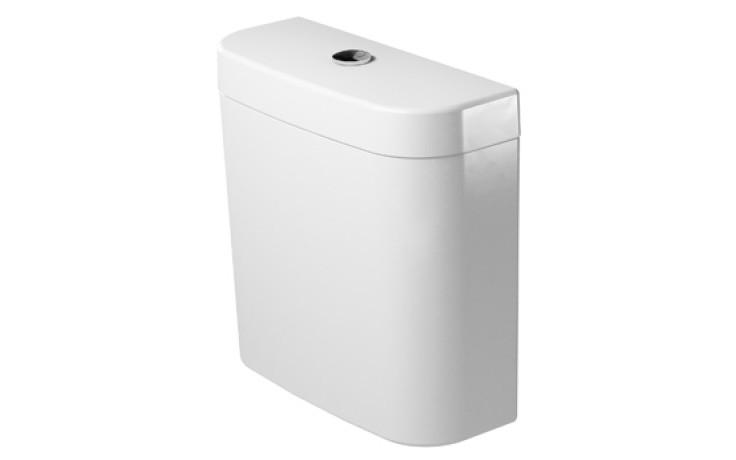 DURAVIT DARLING NEW splachovací nádrž 405x160mm s Dual-Flush, bílá/chrom 0931100085
