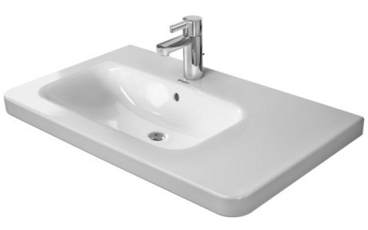 Umyvadlo nábytkové Duravit s otvorem DuraStyle umyvadlo vlevo 80x48 cm bílá