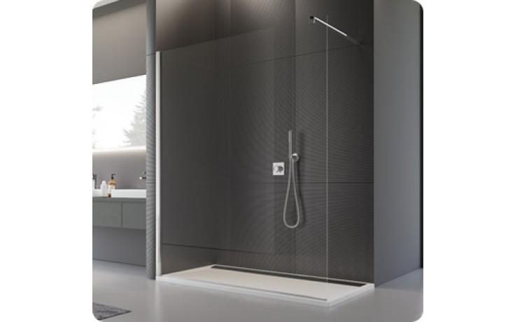 SANSWISS WALK IN PUR PDT4P sprchová zástěna 800x2000mm, pevná, samostatná, s vyrovnávacím profilem, chrom/čirá