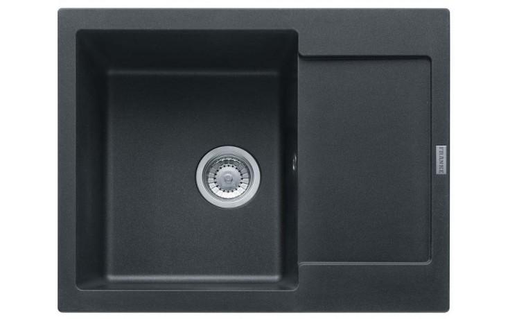FRANKE MARIS MRG 611-62 dřez 620x500mm s odkapávačem, Fragranit DuraKleen Plus/grafit