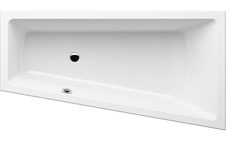 GKI MEMO tvarovaná vana 1700x900/600mm polorohová, pravá, akrylátová, bílá