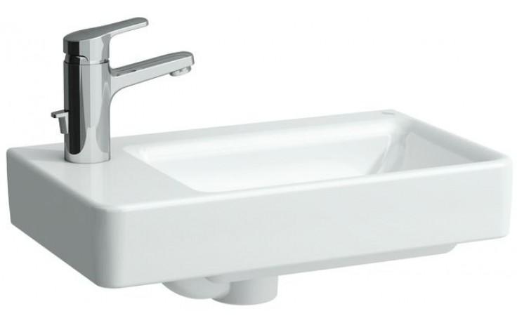 LAUFEN PRO S umývátko asymetrické 480x280mm bez otvoru, levé, bílá 8.1595.5.000.109.1