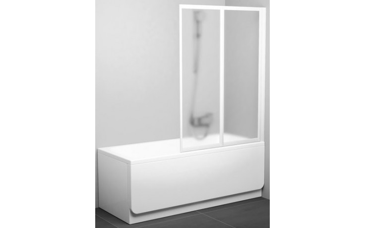 Zástěna vanová dveře Ravak plast VS2 105 1045x1400 bílá/rain
