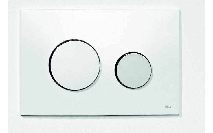 Předstěnové systémy ovládací desky TECE TECEloop dvojčinné  bílá/lesklý chrom