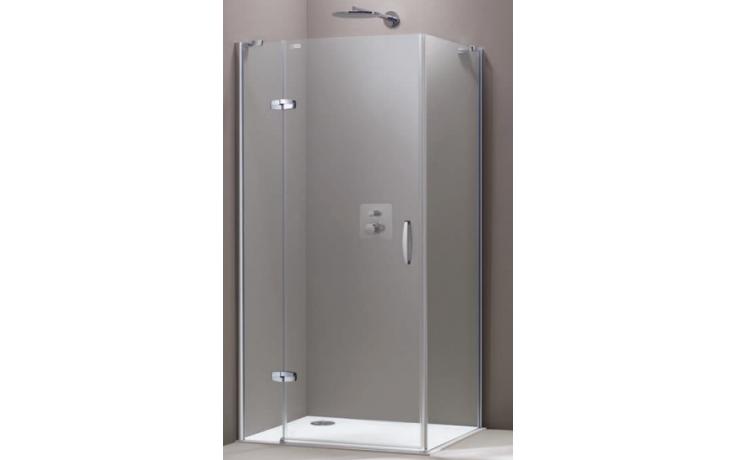 Zástěna sprchová boční Huppe sklo Aura elegance na podlahu Akce 900x2000mm stříbrná lesklá/čiré