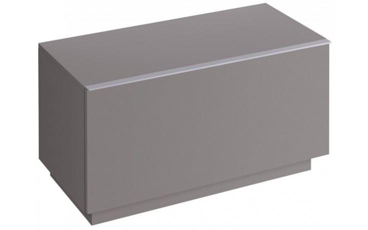 Nábytek skříňka Keramag iCon postranní 89x47,2x47,7 cm platinová lesklá