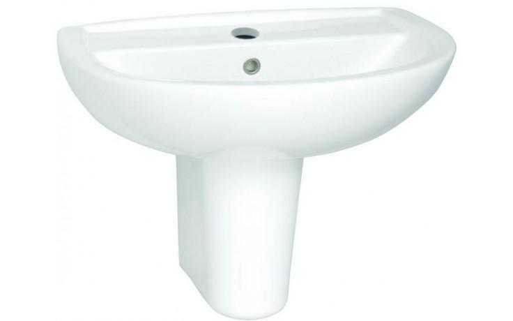 Umyvadlo klasické - s otvorem Concept 100 kulaté 65 cm bílá alpin