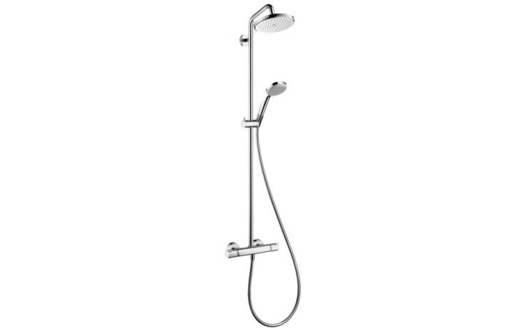 HANSGROHE sada horní sprcha 220 Air 1jet Showerpipe EcoSmart chrom 27188000