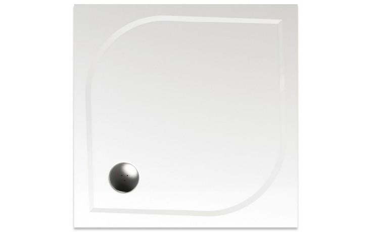 TEIKO DRACO 80 sprchová vanička 80x80x3cm, čtverec, litý mramor, bílá