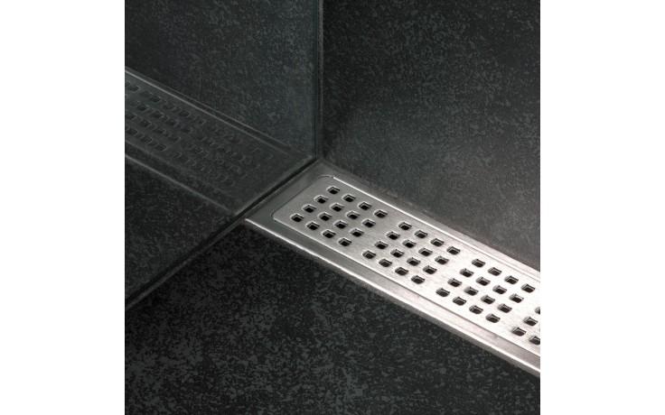 Příslušenství ke žlabům Unidrain - Rošt Square délka 1000mm nerez