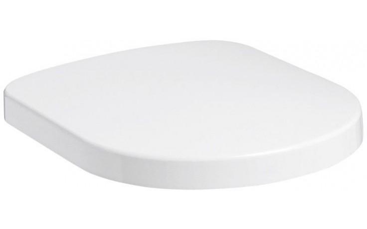 KOLO QUATRO klozetové sedátko, tvrdé, z Duroplastu, s automatickým pozvolným sklápěním, bílá K60114000