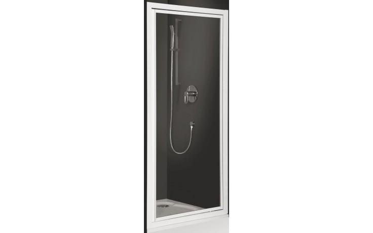 ROLTECHNIK CLASSIC LINE CDO1/800 sprchové dveře 800x1836mm jednokřídlé pro instalaci do niky, stříbro/transparent