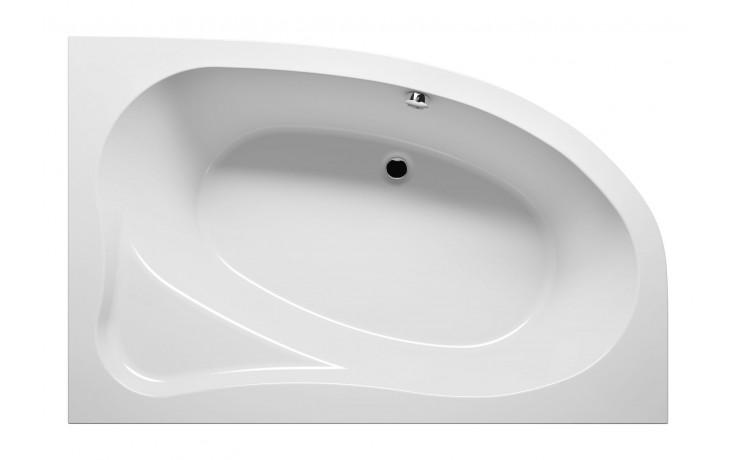 Vana plastová Riho tvarovaná Lyra 170 R 170x110cm bílá