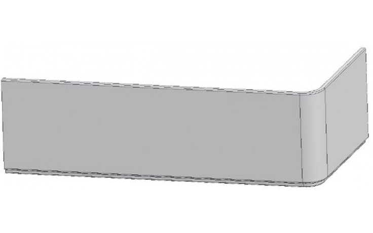 RAVAK 10 160L panel čelní, levý, snowwhite
