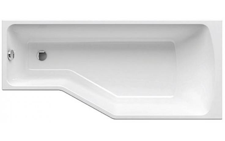 RAVAK BE HAPPY 170 L asymetrická vana 1700x750mm akrylátová, levá, snowwhite