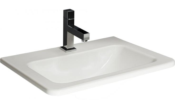 JIKA CUBITO zápustné umyvadlo 550x410mm s otvorem, bílá