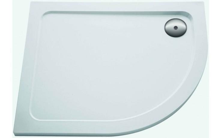 Vanička plastová Kohler čtvrtkruh Flight levá 100x80x4 cm white