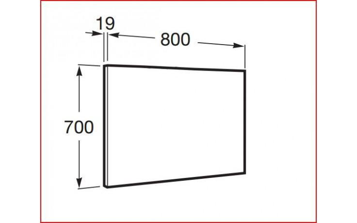 ROCA UNIK VICTORIA-N zrcadlo 700x19x700mm dub 7856666155