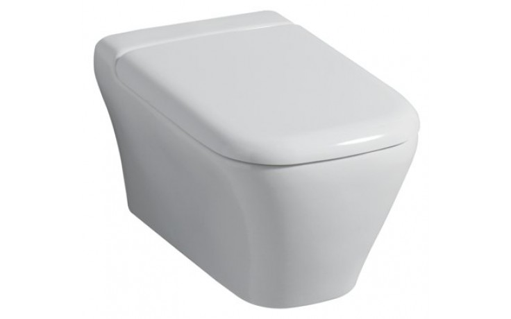 Sedátko WC Keramag duraplastové s kov. panty myDay s automatickým pozvolným sklápěním  bílá