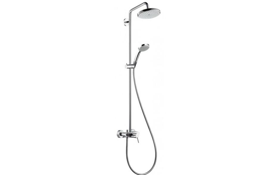 koupelny pt ek hansgrohe croma 220 air 1jet showerpipe sprchov panel s p kovou bateri chrom. Black Bedroom Furniture Sets. Home Design Ideas
