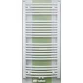 CONCEPT 100 KTOM radiátor koupelnový 450x1860mm, prohnutý se středovým připojením, bílá