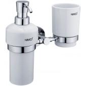 NIMCO UNIX držák kartáčků, sklenky a dávkovače 205x130x197mm chrom UN 1305731K-26