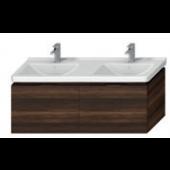 JIKA CUBITO-N skříňka pod dvojumyvadlo 1280x467x480mm, tmavá borovice