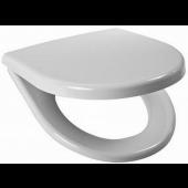 JIKA LYRA PLUS klozetové sedátko s poklopem, duroplastové, s plastovými úchyty, SLOWCLOSE, bílá 8.9338.0.300.063.1