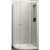 CONCEPT 100 NEW sprchové dveře 900x900x1900mm posuvné, 1/4 kruh, bílá/čiré sklo s AP, PTA21602.055.322