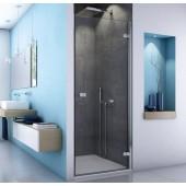 SANSWISS ESCURA ES1CG sprchové dveře 900x2000mm, jednodílné, levý díl pro rohový vstup, aluchrom, čiré sklo