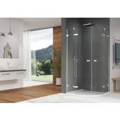 SANSWISS ESCURA ESR sprchový kout 900x900x2000mm R550, s dvoukřídlými dveřmi, čtvrtkruh, otvíraní ven, aluchrom/čiré sklo