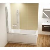CONCEPT 100 vanová zástěna 800x1500mm jednodílná, pravá bílá/transparent