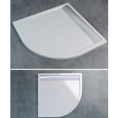 SANSWISS ILA WIQ vanička 1000x1000x30mm čtverec, včetně sifonu a krytu, bílá/aluchrom