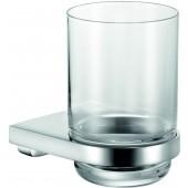 KEUCO MOLL držák na skleničku 74x108mm, včetně sklenky, chrom/sklo
