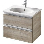 IDEAL STANDARD TESI skříňka pod umyvadlo 600x440x490mm, 2 zásuvky, světlé dřevo