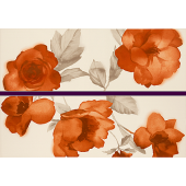 MARAZZI COLOURLINE dekor, 22x66,2cm, ivory/orange