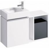 GEBERIT ICON XS postranní prvek 37x40x24,5cm, závěsný, bílá matná 841137000