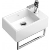 VILLEROY & BOCH MEMENTO umývátko 400x260mm bez přepadu Bílá Alpin CeramicPlus 533341R1