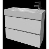 JIKA PURE skříňka pod umyvadlo 780x338x545mm se 2 zásuvkami, bílá 4.5587.2.174.500.1