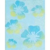 RAKO CANDY dekor 20x25cm modrá s květy WITGW654