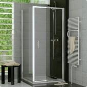 SANSWISS TOP LINE TOPF boční stěna 900x1900mm, matný elox/čiré sklo Aquaperle