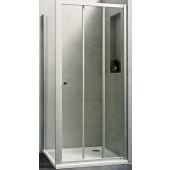 CONCEPT 100 NEW sprchové dveře 1000x1000x1900mm posuvné, rohový vstup 3 dílný, stříbrná matná/čiré sklo AP, PTA21103.087.322