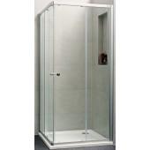 CONCEPT 100 NEW sprchové dveře 1000x1000x1900mm posuvné, rohový vstup 2 dílný, stříbrná matná/čiré sklo s AP, PTA20104.087.322