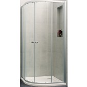 Zástěna sprchová čtvrtkruh - sklo Concept 100 NEW 900x900x1900/R500 mm stříbrná matná/čiré AP