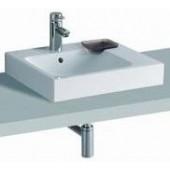 GEBERIT ICON umyvadlo 50x48,5cm na desku, s otvorem pro baterii, s přepadem, bílá 124550000