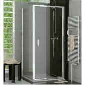SANSWISS TOP LINE TOPP sprchové dveře 900x1900mm, jednokřídlé, matný elox/čiré sklo Aquaperle