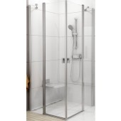 RAVAK CHROME CRV2 80 sprchový kout 780-800x1950mm rohový satin/transparent 1QV40U00Z1